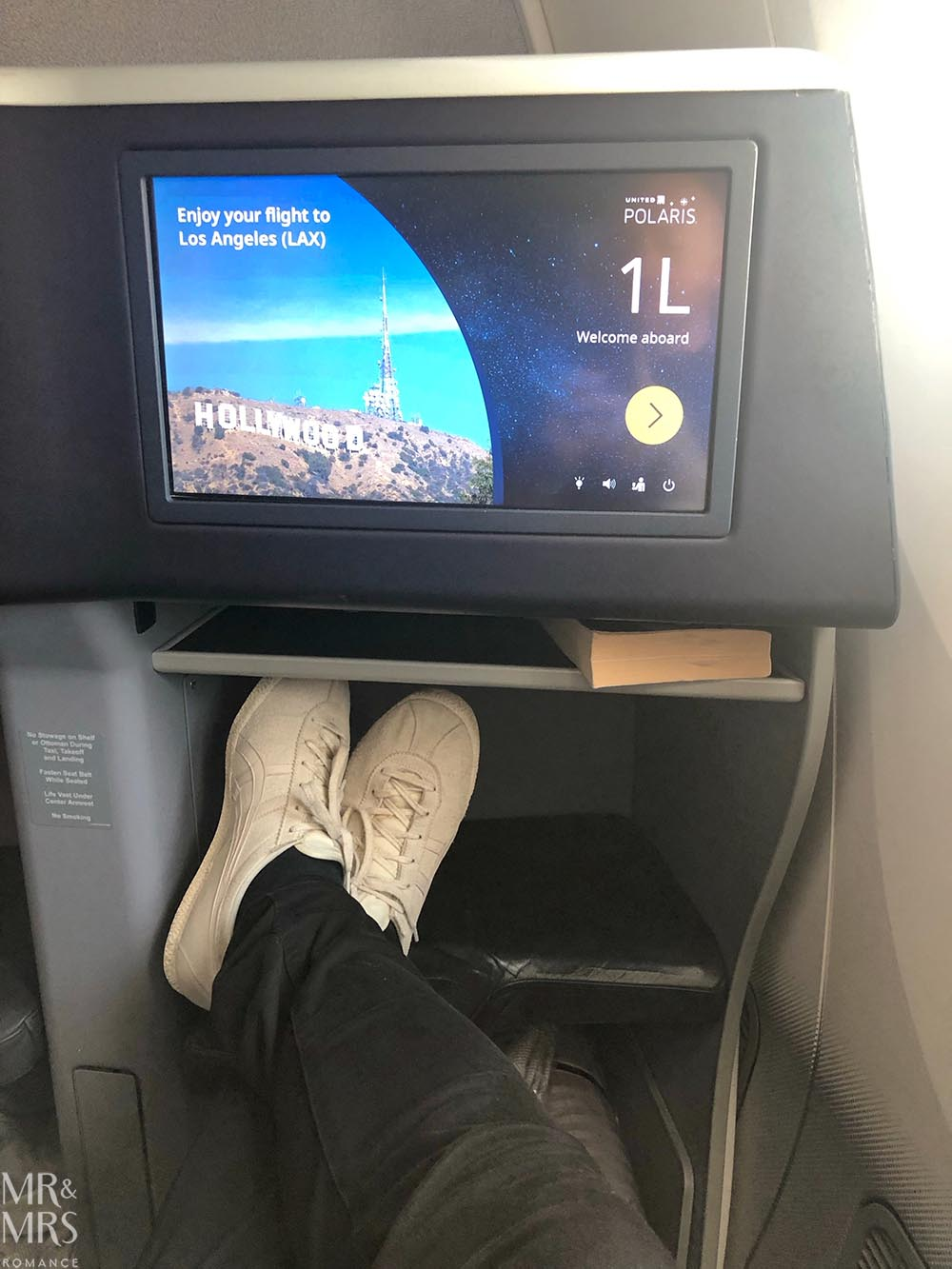 United Airlines business class United Polaris review - legroom