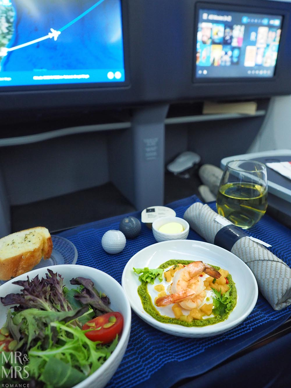 United Airlines business class United Polaris review - cold appetiser