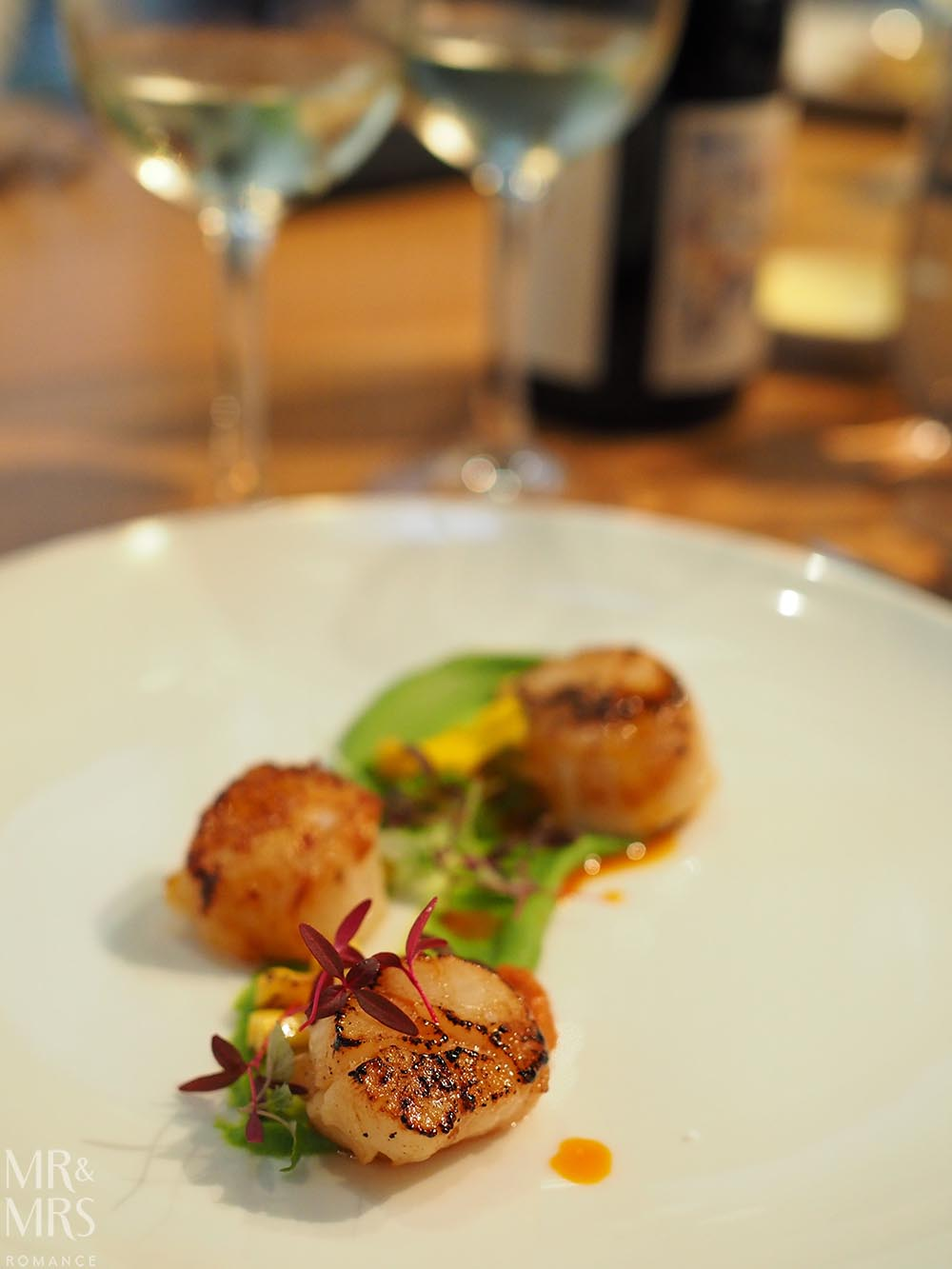 Four Points Chippendale Wine&Dine scallops