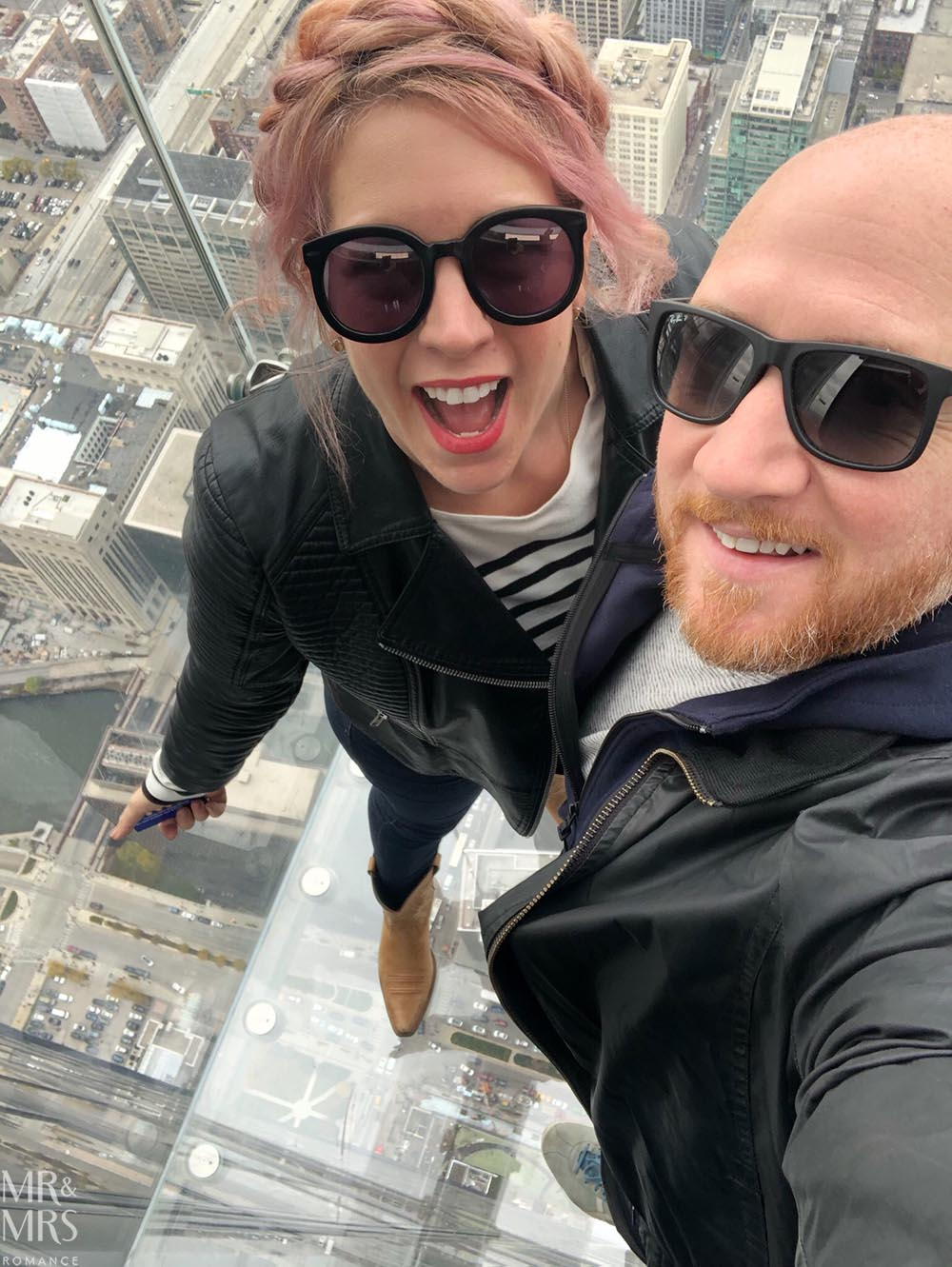 Skydeck Willis Tower and us, Chicago, IL