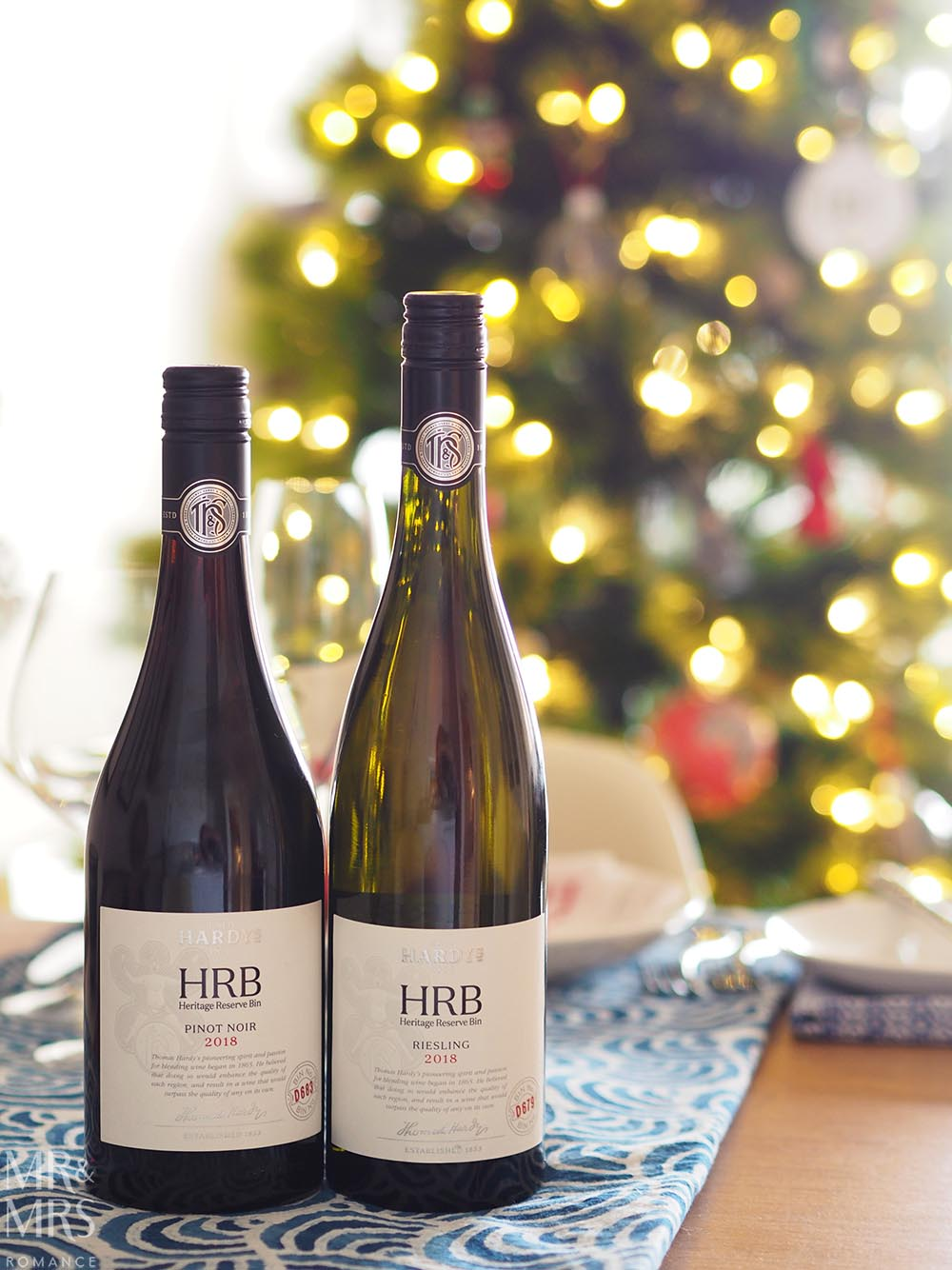 Christmas drinks list Hardy's HRB Riesling Hardy's HRB Pinot Noir