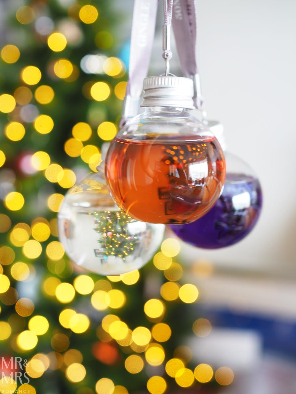Gingle Bells gin-filled Christmas baubles