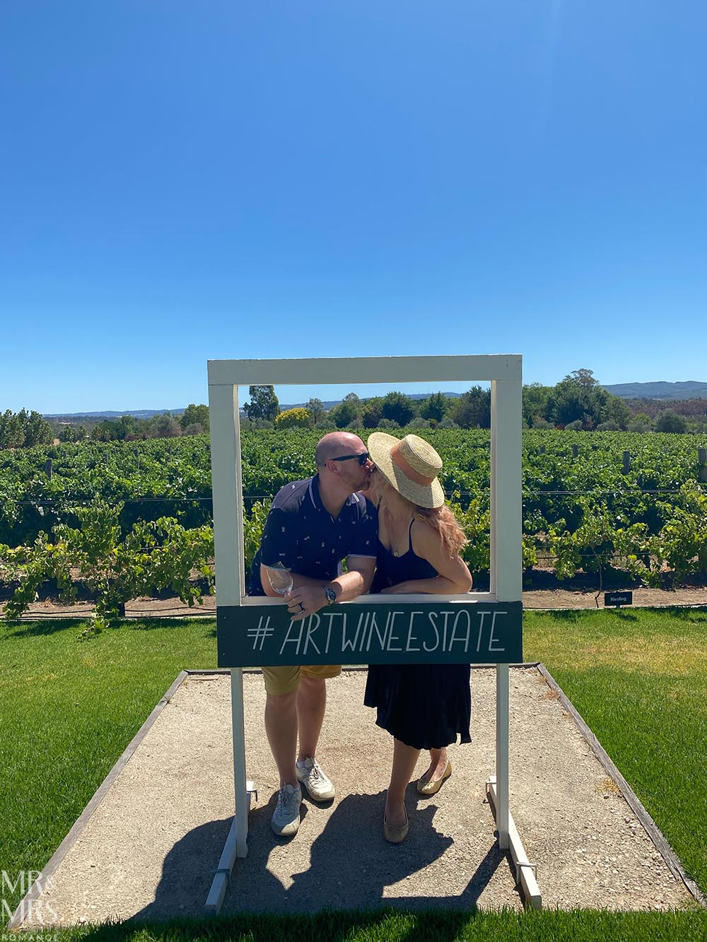 us at Artwine Winery, Adelaide Hills, Adelaide