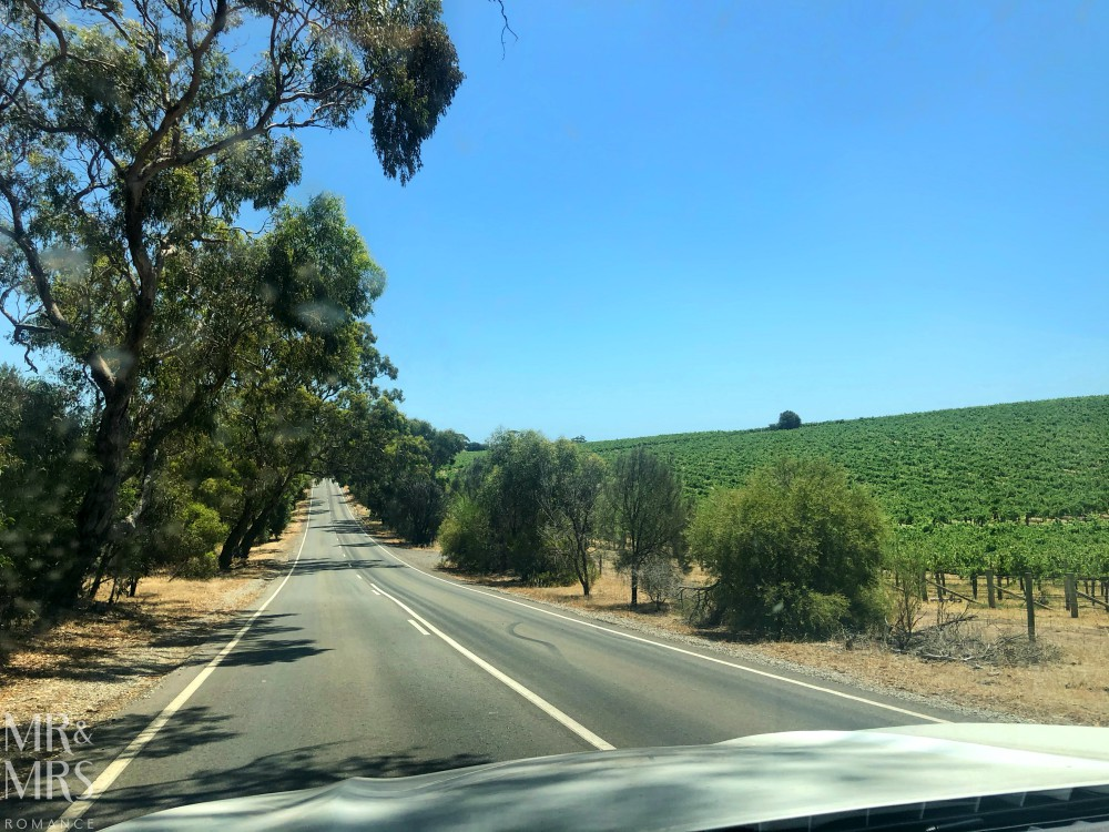 Driving to McLaren Vale, Adelaide