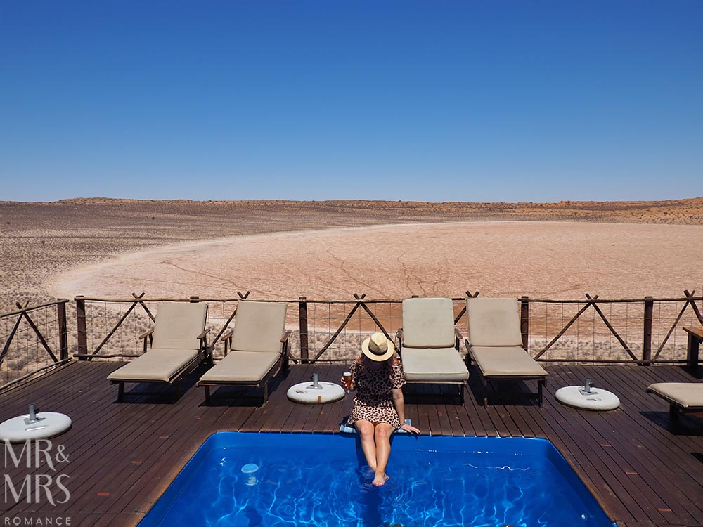Xaus Lodge Kgalagadi Transfrontier Park, Kalahari Desert safari, South Africa - pool