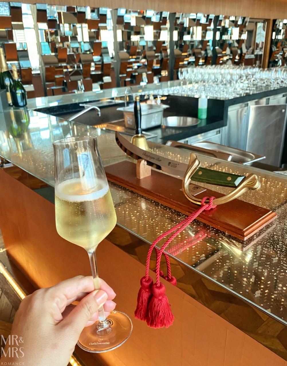 TravMedia Summit Sofitel Darling Harbour Champagne Bar - Sabrage