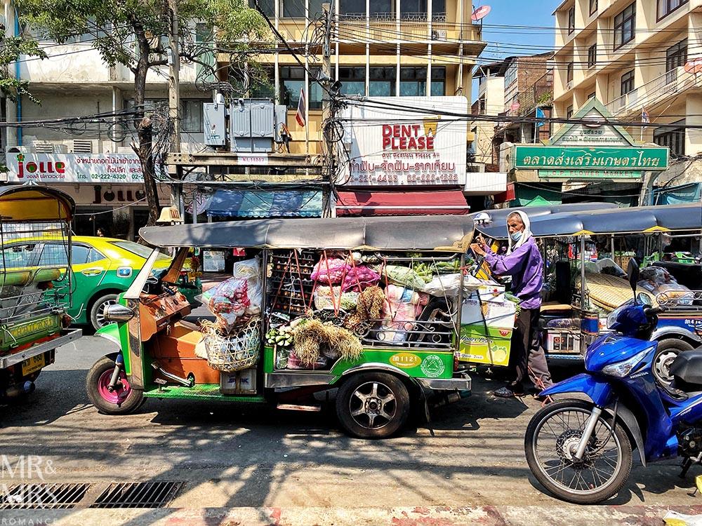 Bangkok Flower Market - tuktuk
