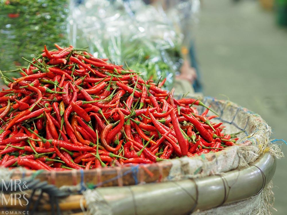 Bangkok Flower Market - chillies