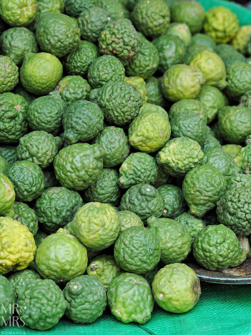 Bangkok Flower Market - kaffir limes