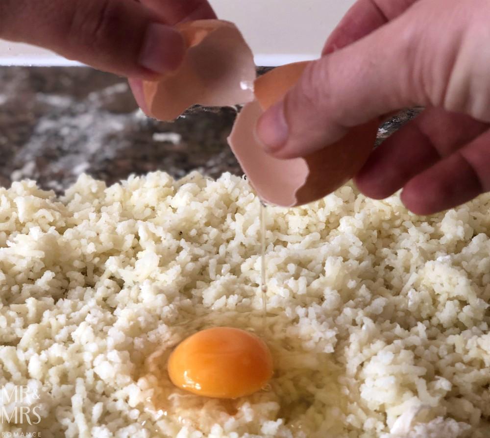 How to make gnocchi - egg on potato