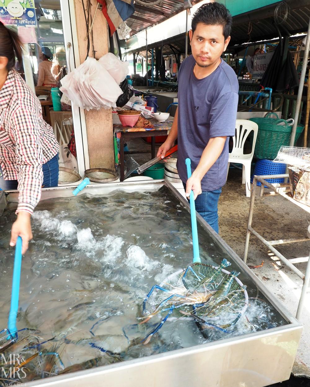Ayutthaya Klang fishmarkets - river prawns