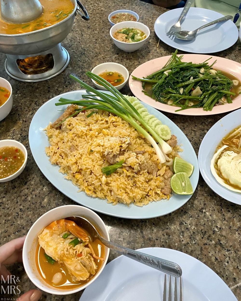 Klang Fishmarkets lunch, Ayutthaya, Thailand