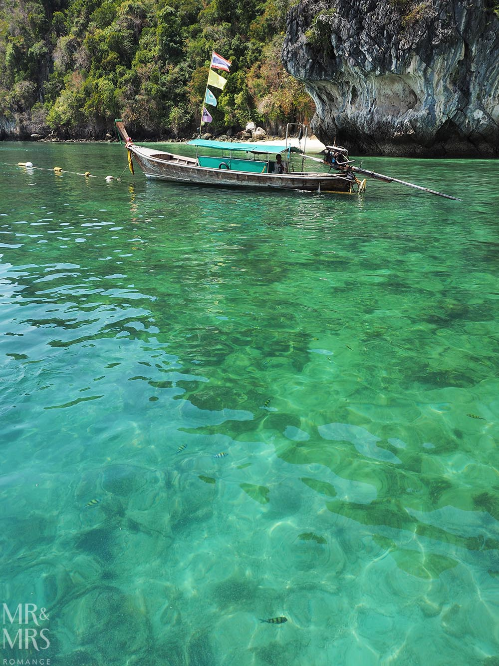 Krabi water - longtail boat Thailand