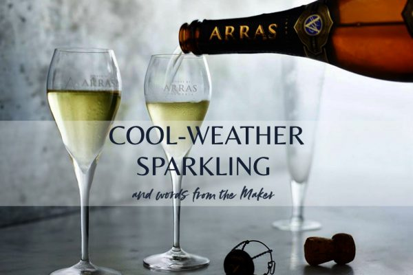 House of Arras - sparkling wine in winter