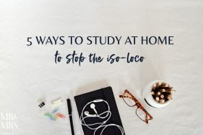 5 ways to study at home to stop the iso-loco