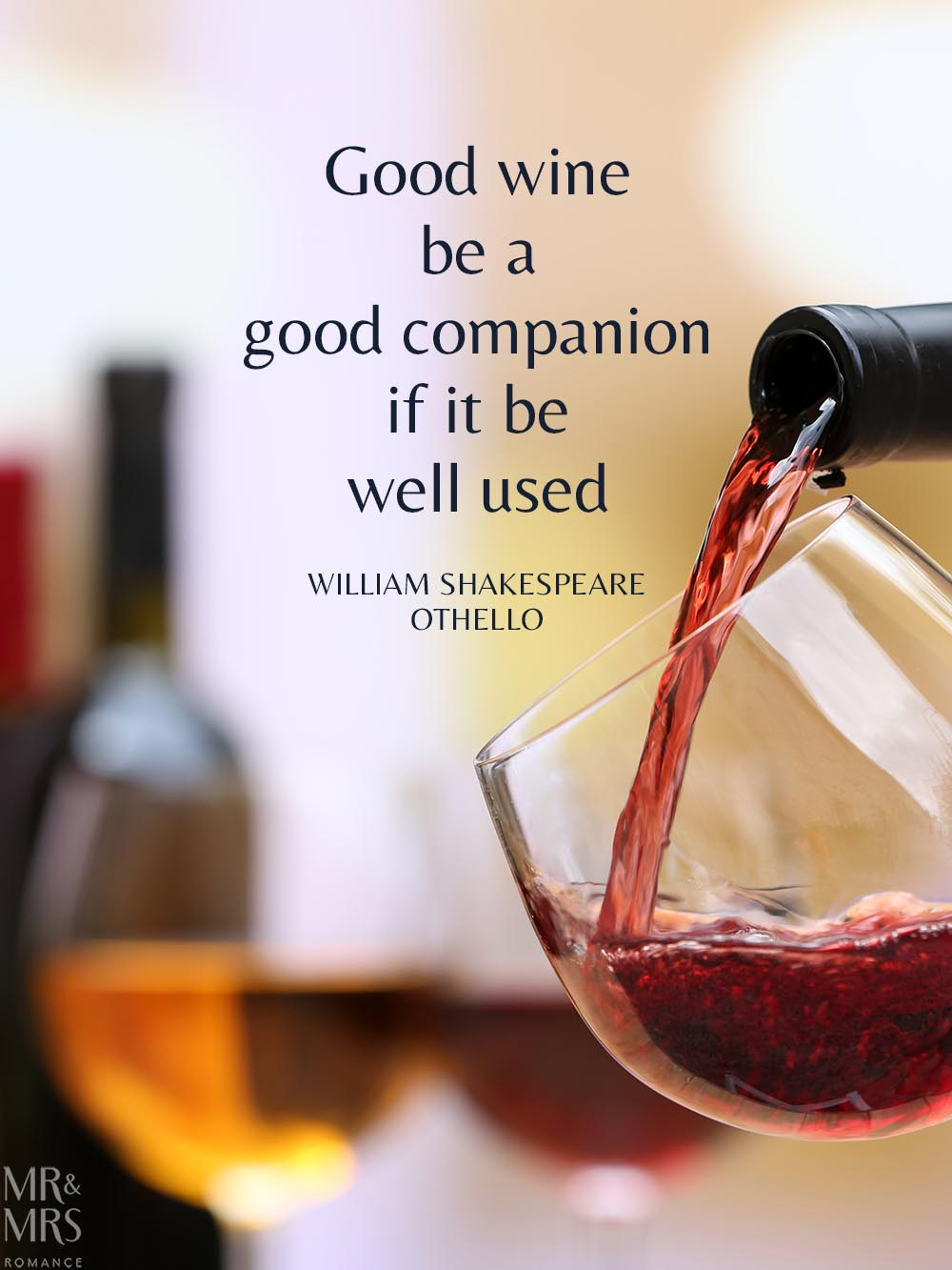 Learn in isolation - Shakespeare wine quote