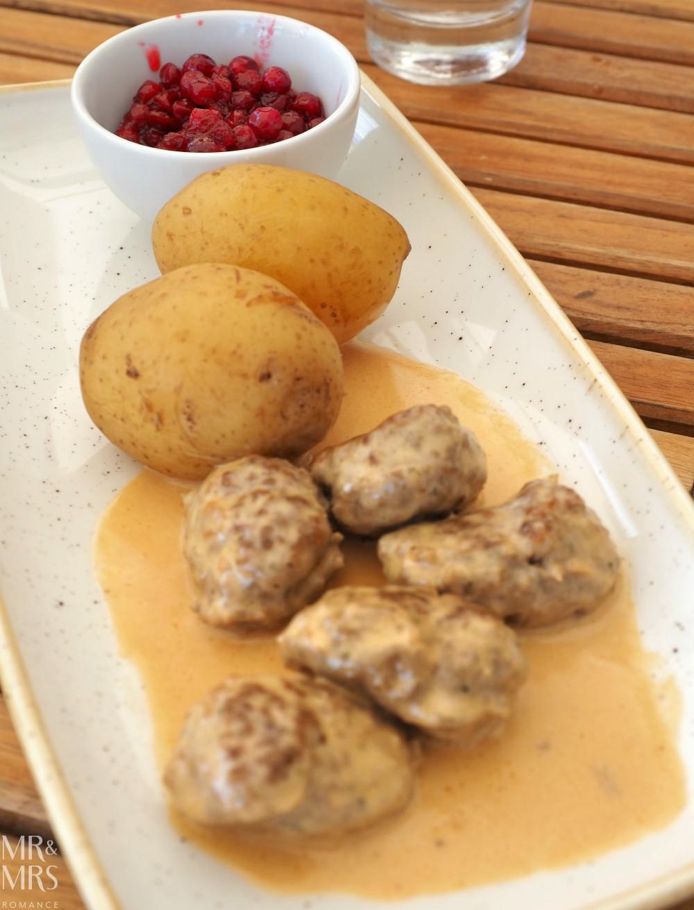Swedish food - meatballs