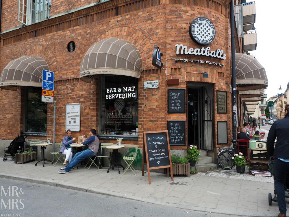 Swedish food - meatball restaurant