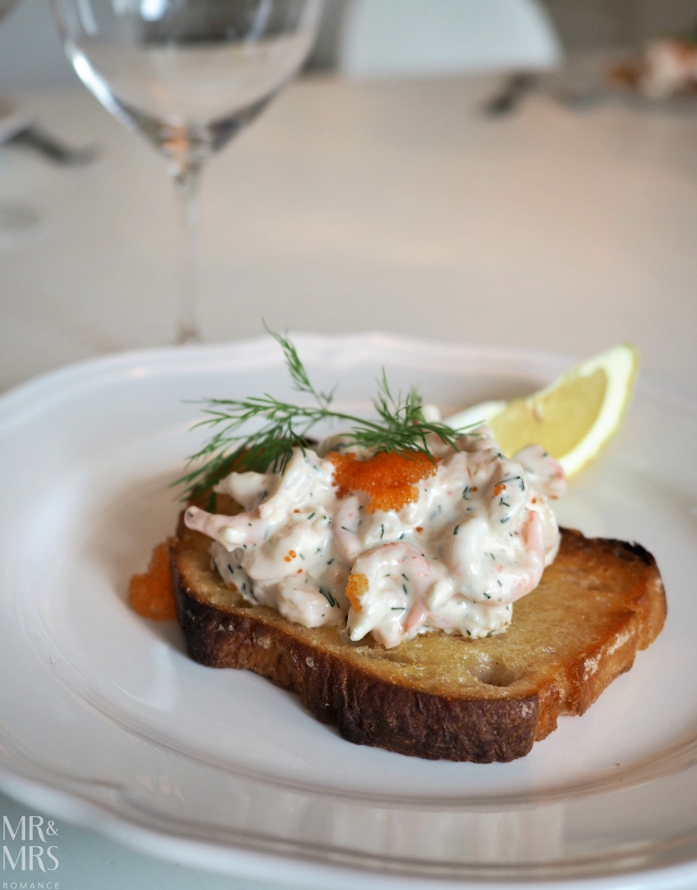 Swedish food - toast Skagen