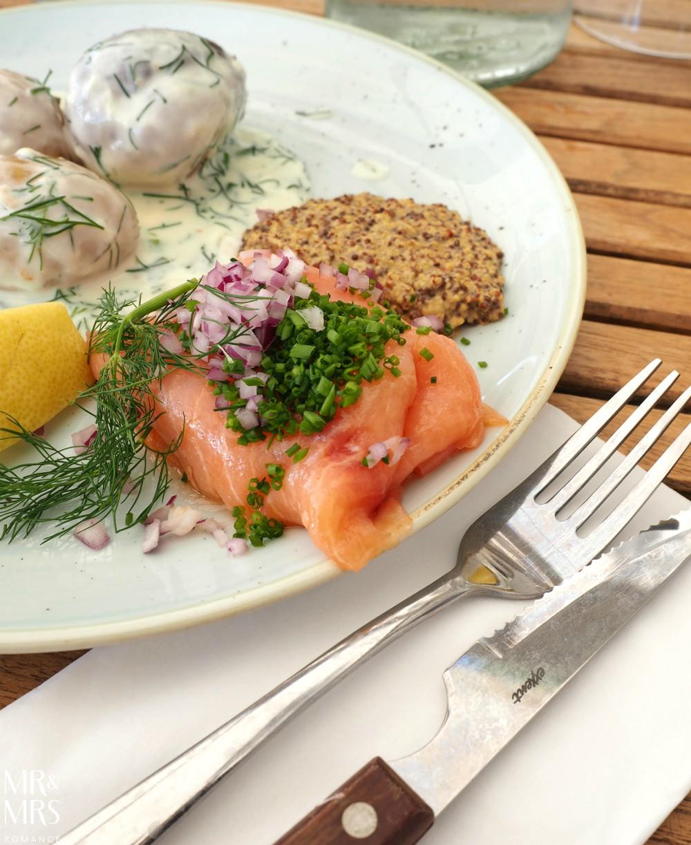 Swedish food - gravlax