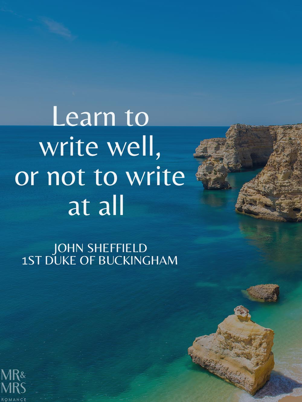 Learn in isolation - writing quote