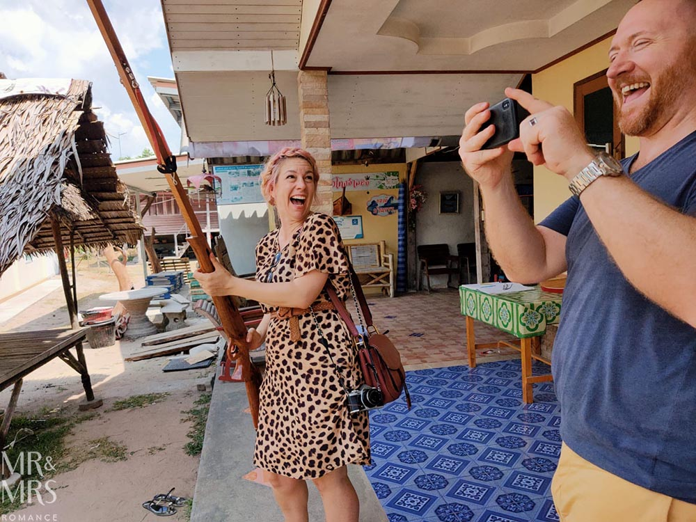Koh Klang, Thailand - shortly after Christina almost shot a man with a clay musket ball