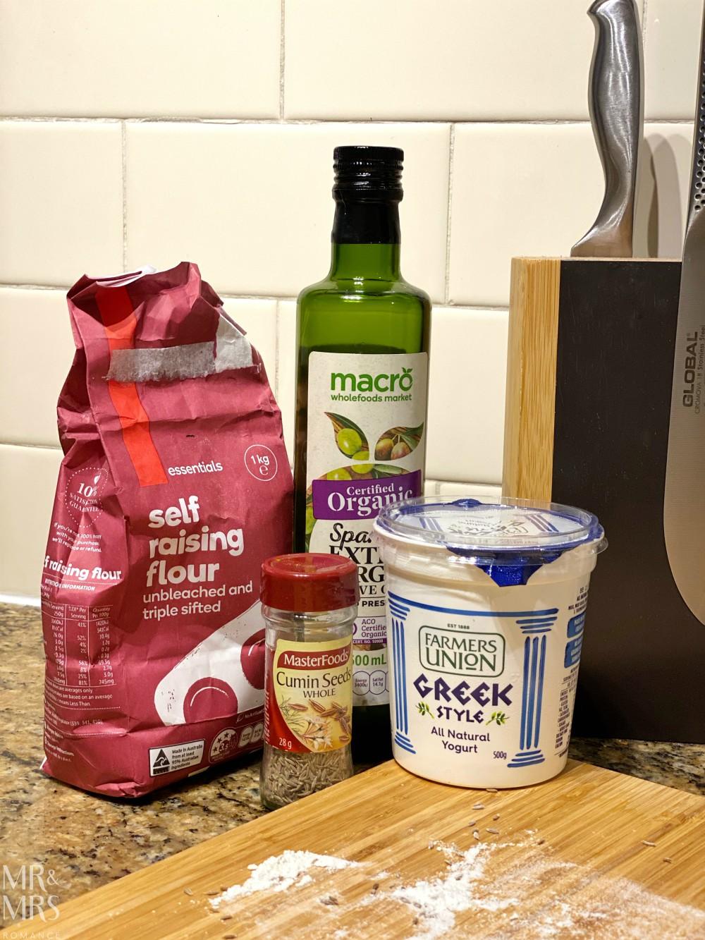 Easy no-yeast naan bread recipe ingredients