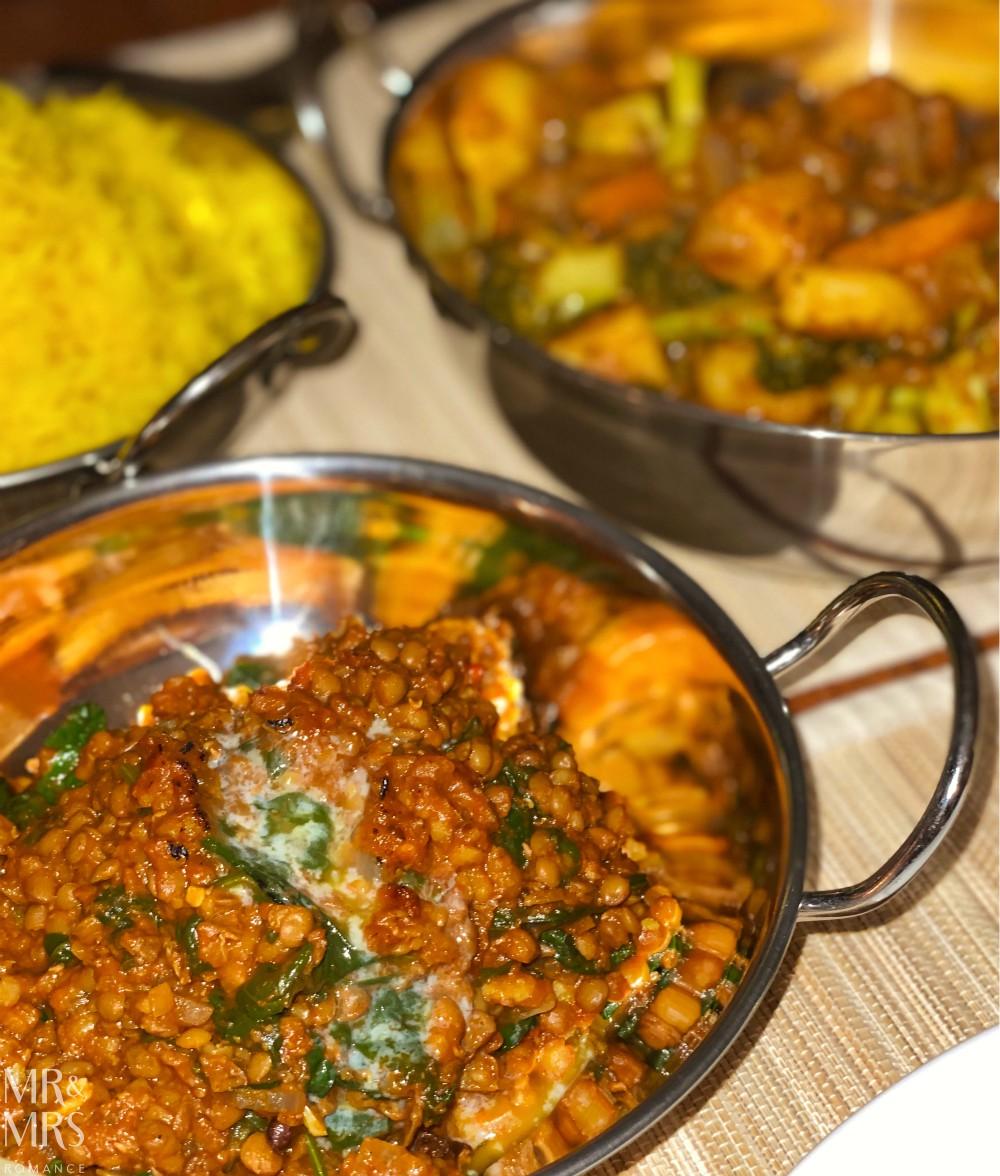 Saag tarka dhal or tarka dal - smoky goodness