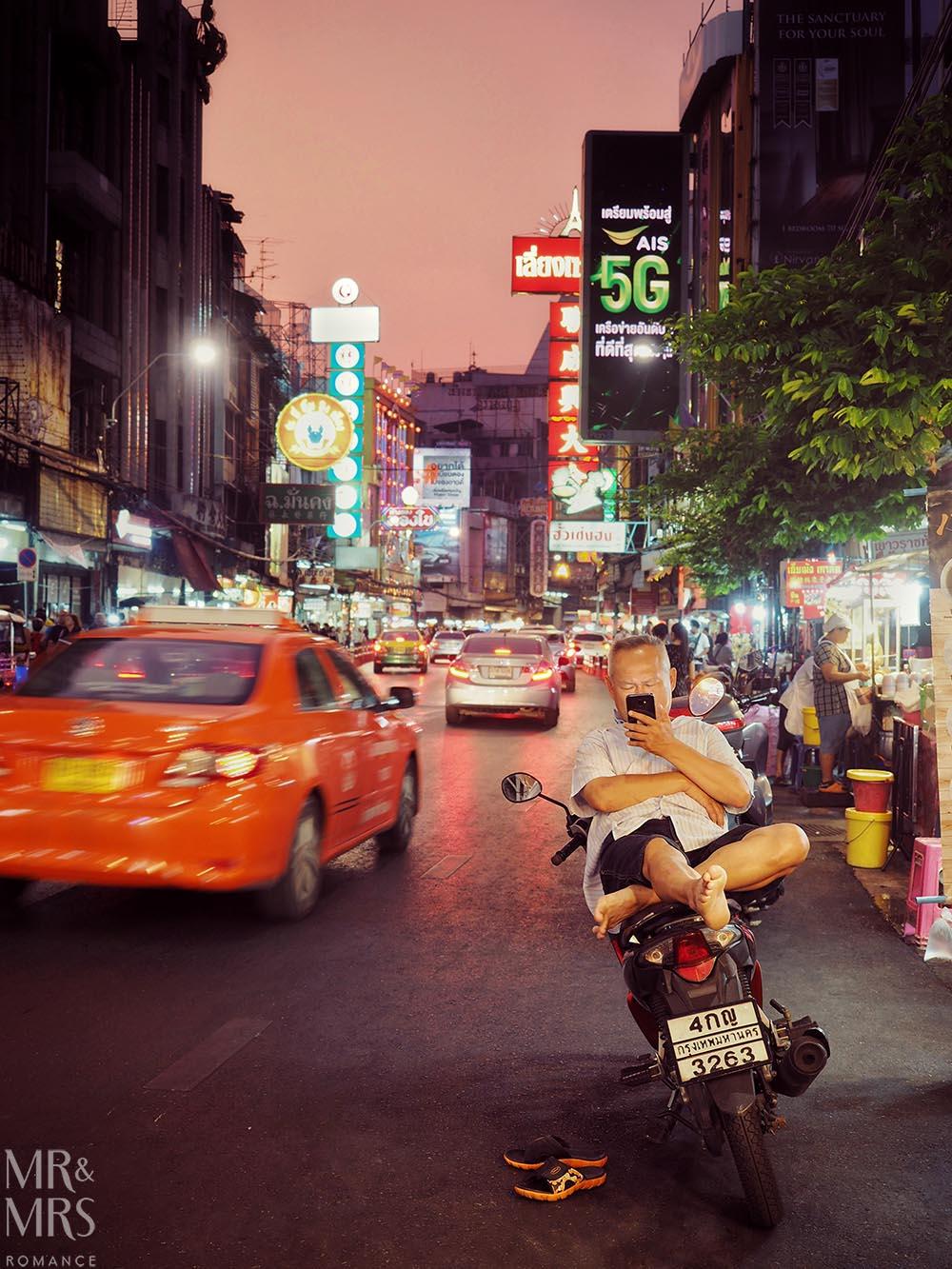 Yoawarat - Bangkok Chinatown - motorcycle taxi