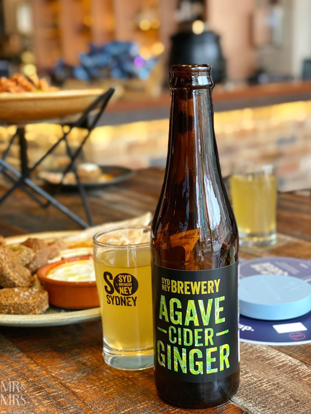 Sydney Brewery - agave ginger cider