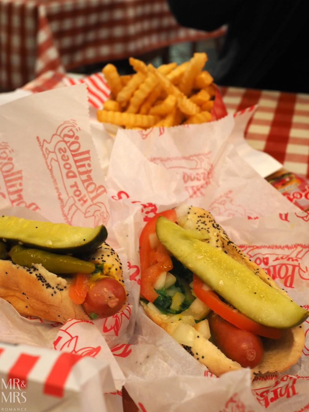 American hotdogs - Portillo's Chicago`