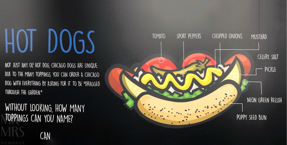 American hotdogs - Chicago-style hotdog from Willis Tower exhibit