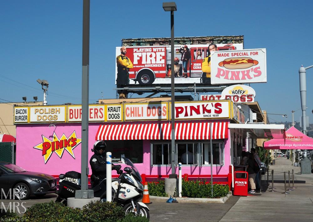 American hotdogs - Pink's hot dogs LA