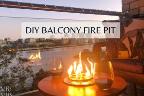 How to build your own tabletop gas fire pit for your balcony
