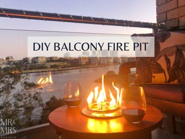 DIY balcony gas fire pit