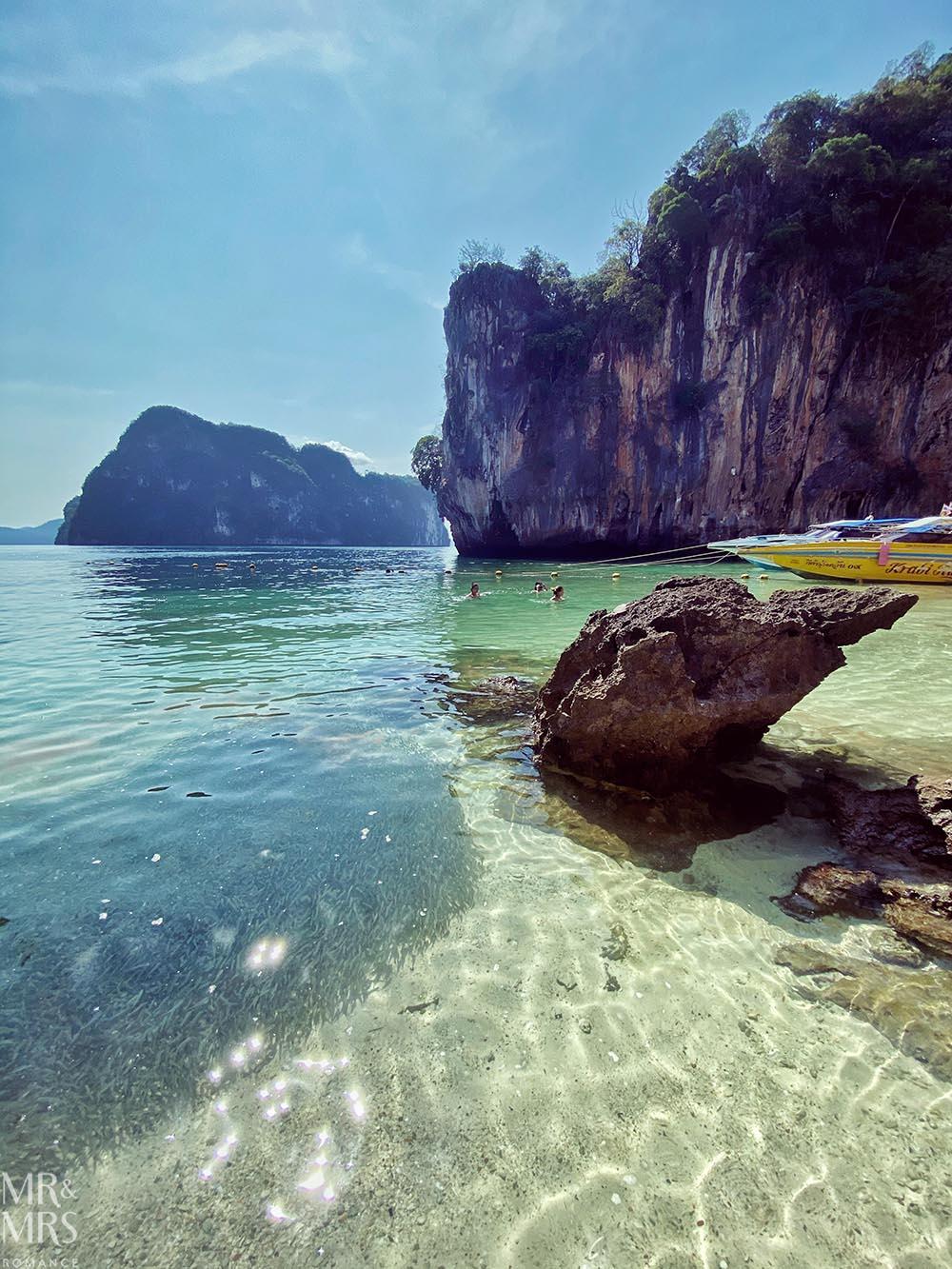 Island-hopping Krabi, Thailand private speedboat Ko Lao Landing