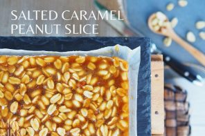 How to make the ultimate salted caramel peanut slice