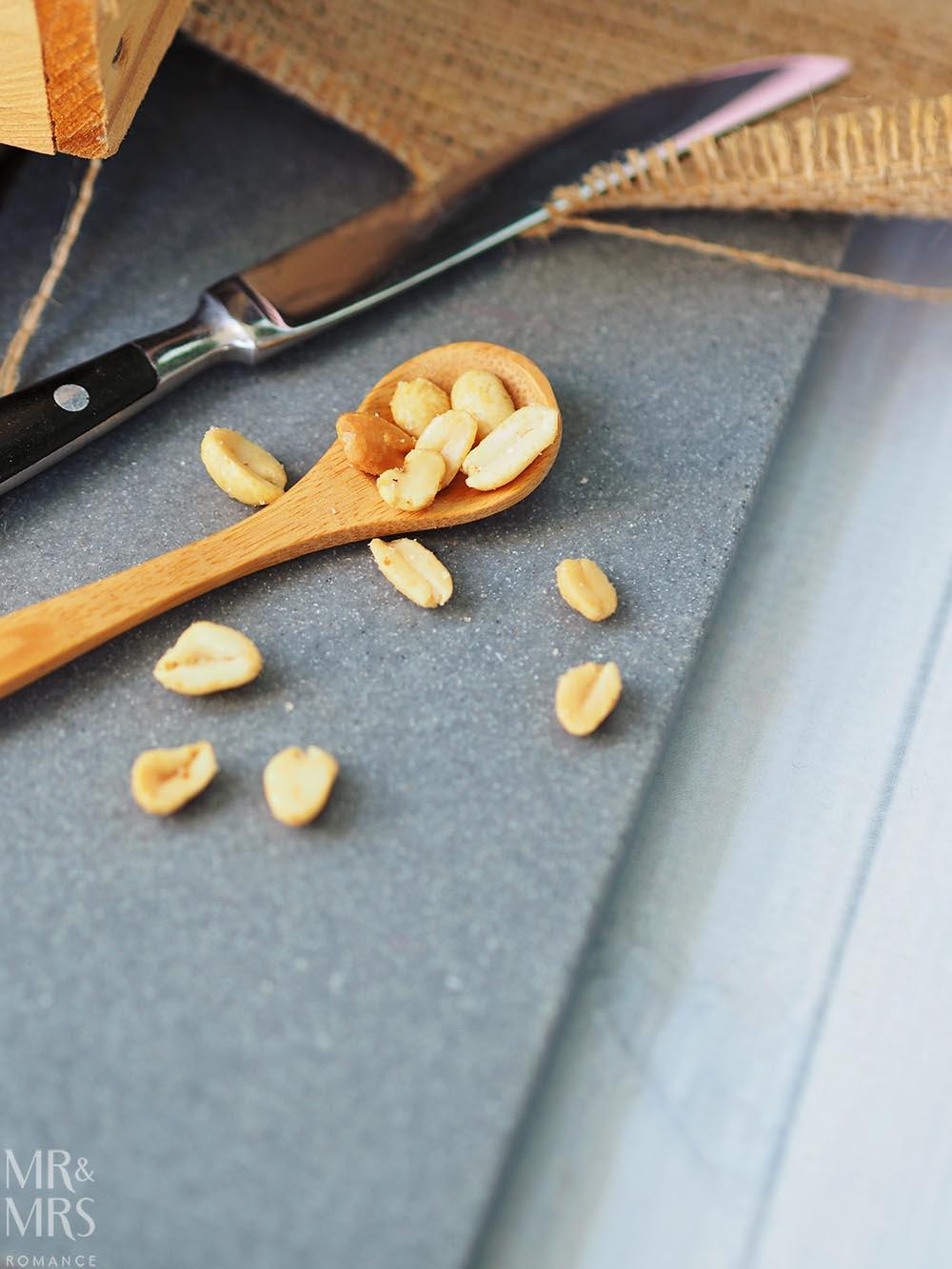 Salted caramel peanut slice recipe - peanuts
