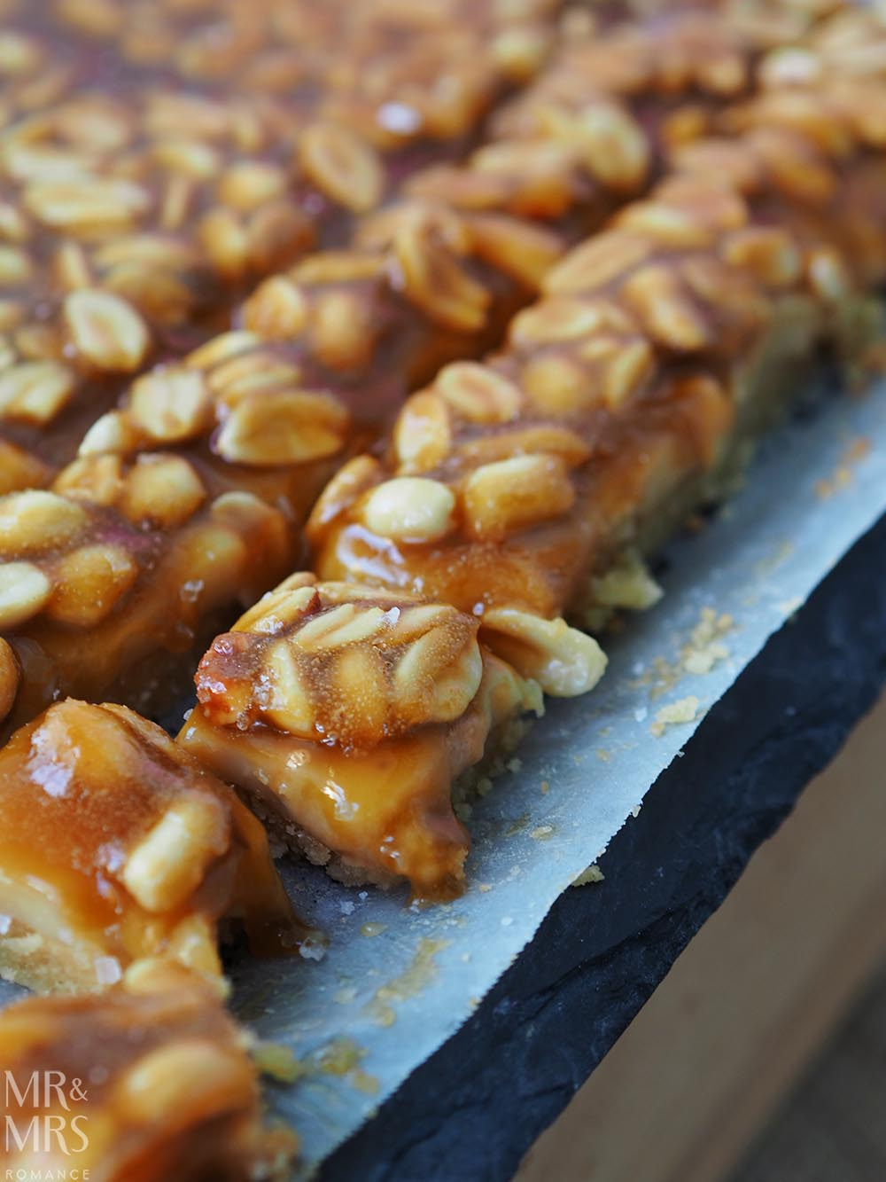Salted caramel peanut slice recipe
