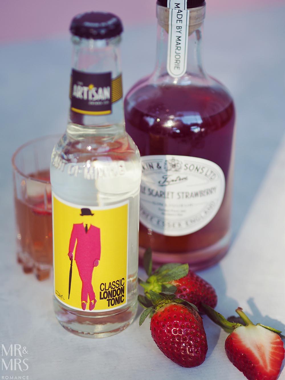 Wilkin Estates Tiptree Jam Co - Little Scarlet strawberry gin liqueur - Artisan Drinks Co tonic