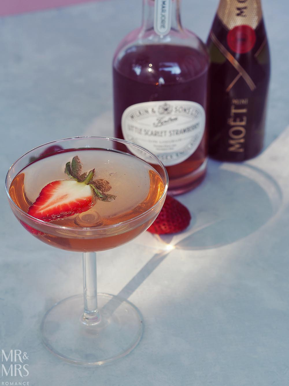 Wilkin Estates Tiptree Jam Co - Little Scarlet strawberry gin liqueur - gin royale