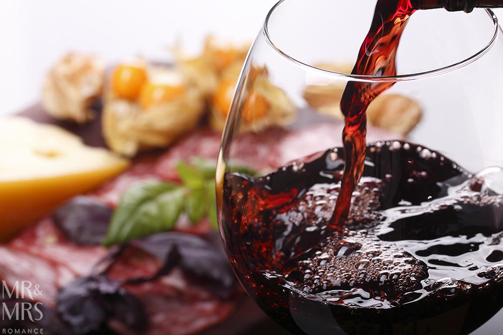 Red wine guide - wine and food