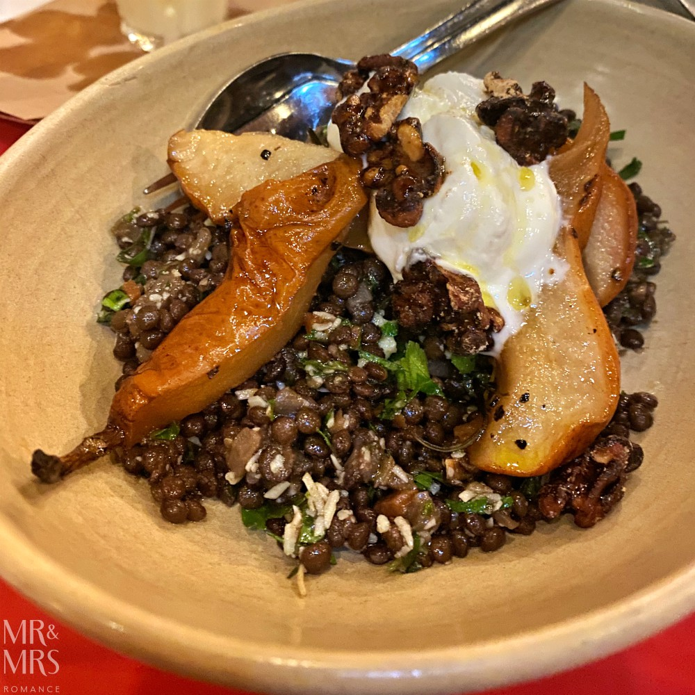 Bloodwood restaurant, Newtown - pear and lentil