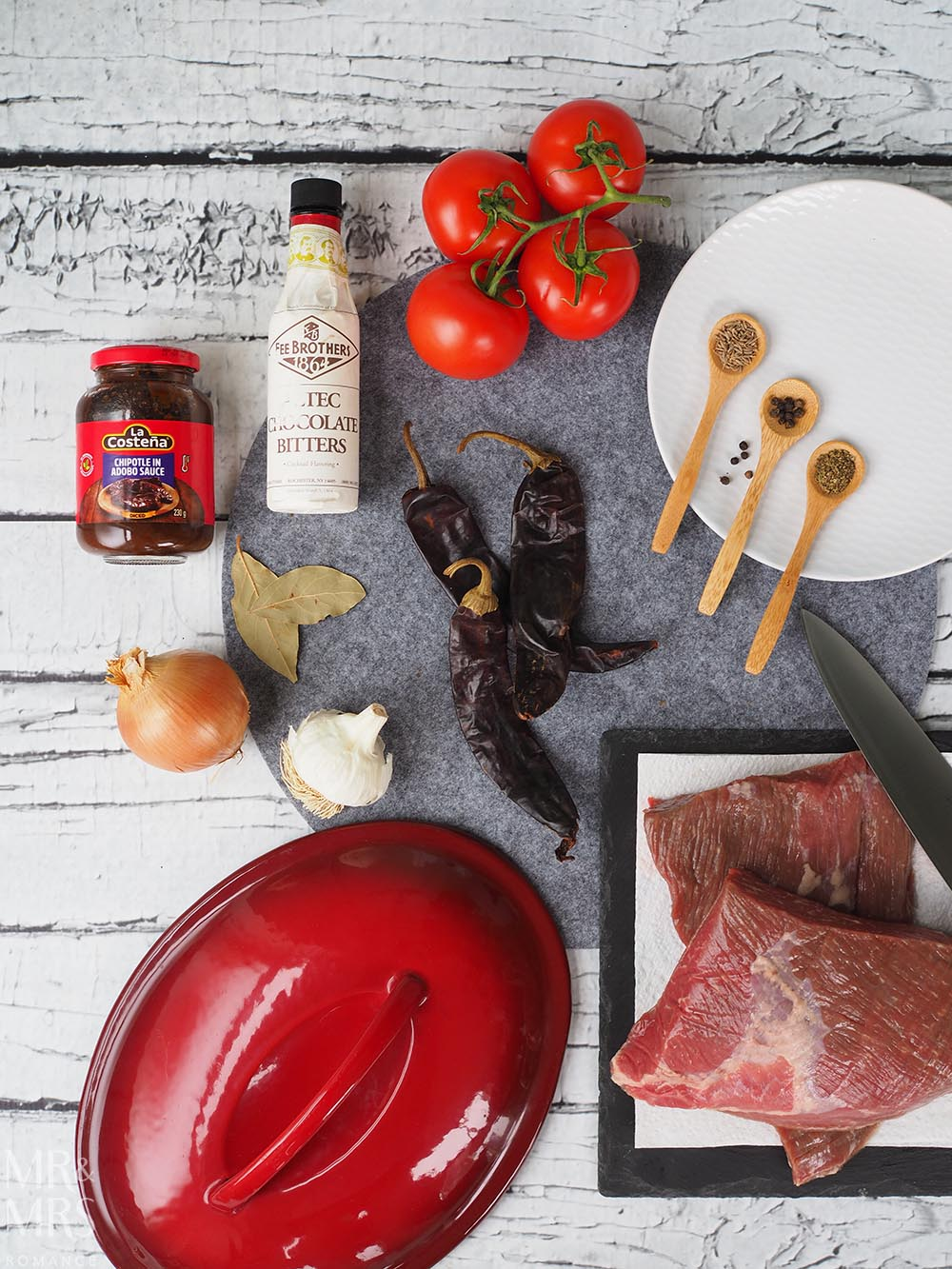 Carne con chilli recipe - ingredients - Rick Stein Mexican food