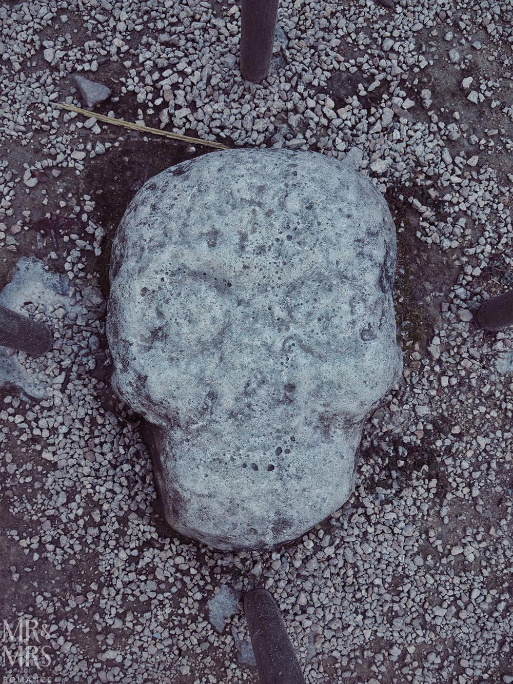 Mayan ruins in Mexico - skull