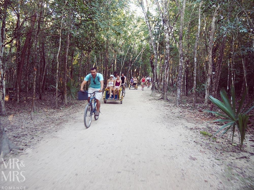 Mayan ruins in Mexico - Coba rickshaw