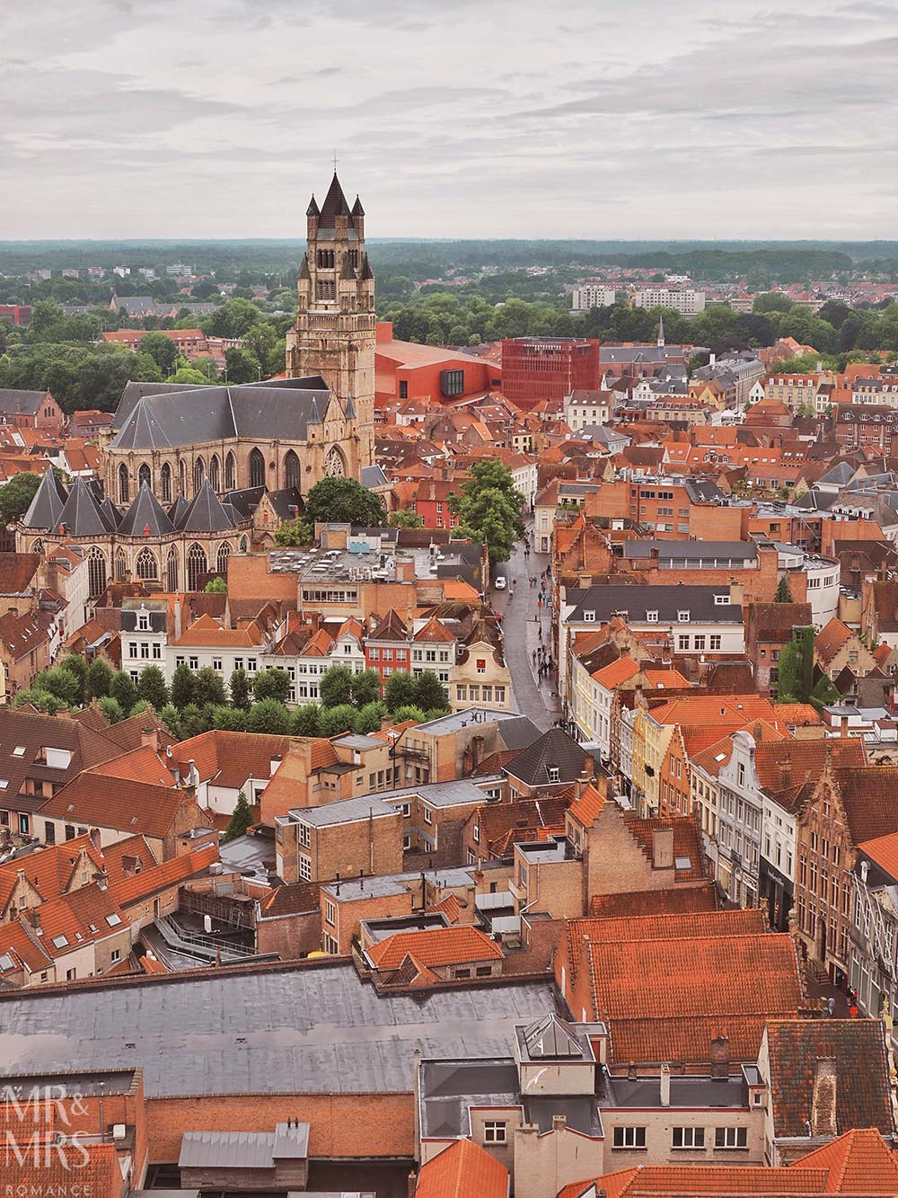 Postcards from Bruges, Belgium - view from the belfry