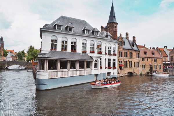 Postcards from Bruges, Belgium - famous bridge