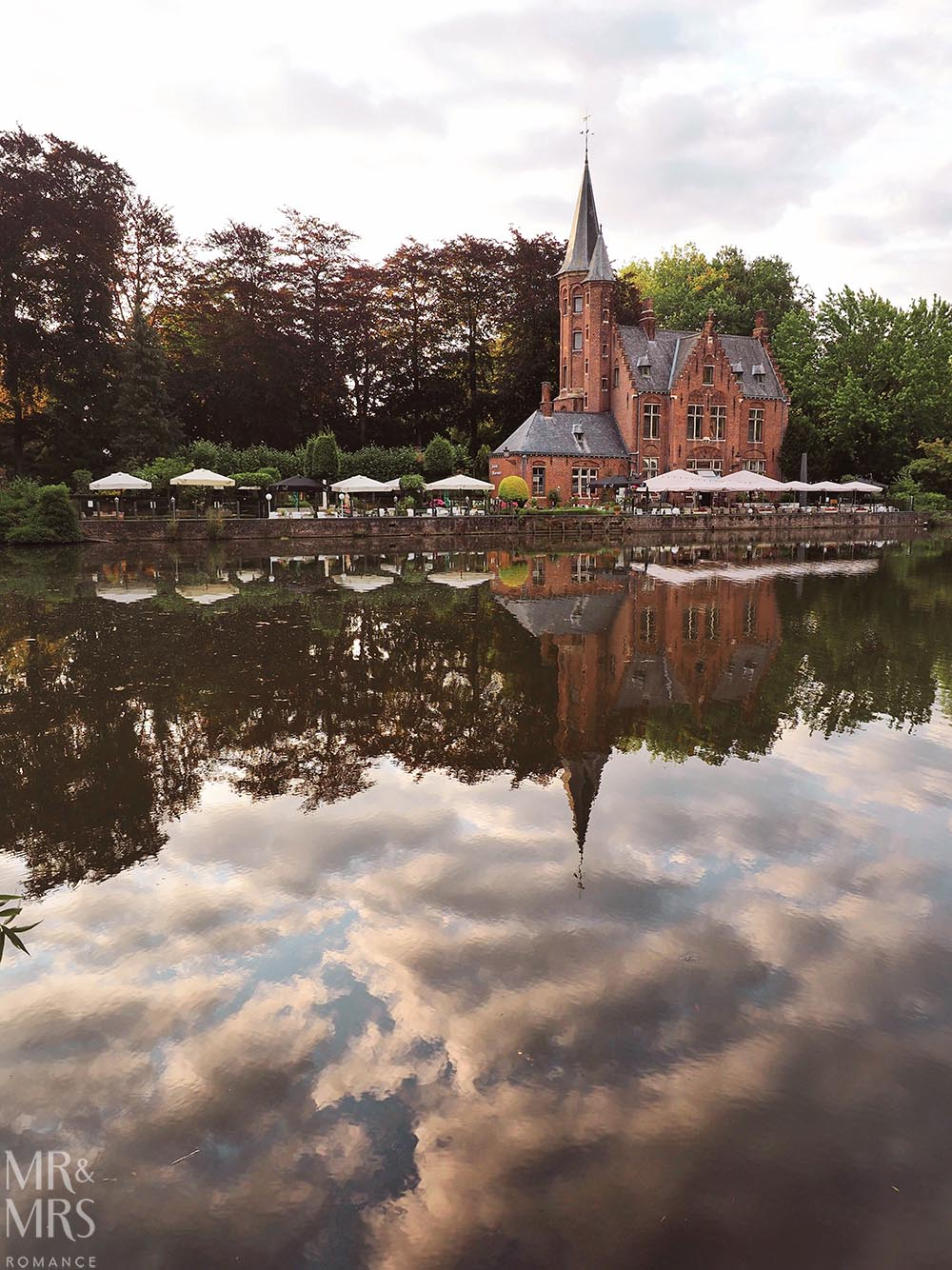 Bruges, Belgium - restaurant on the canal