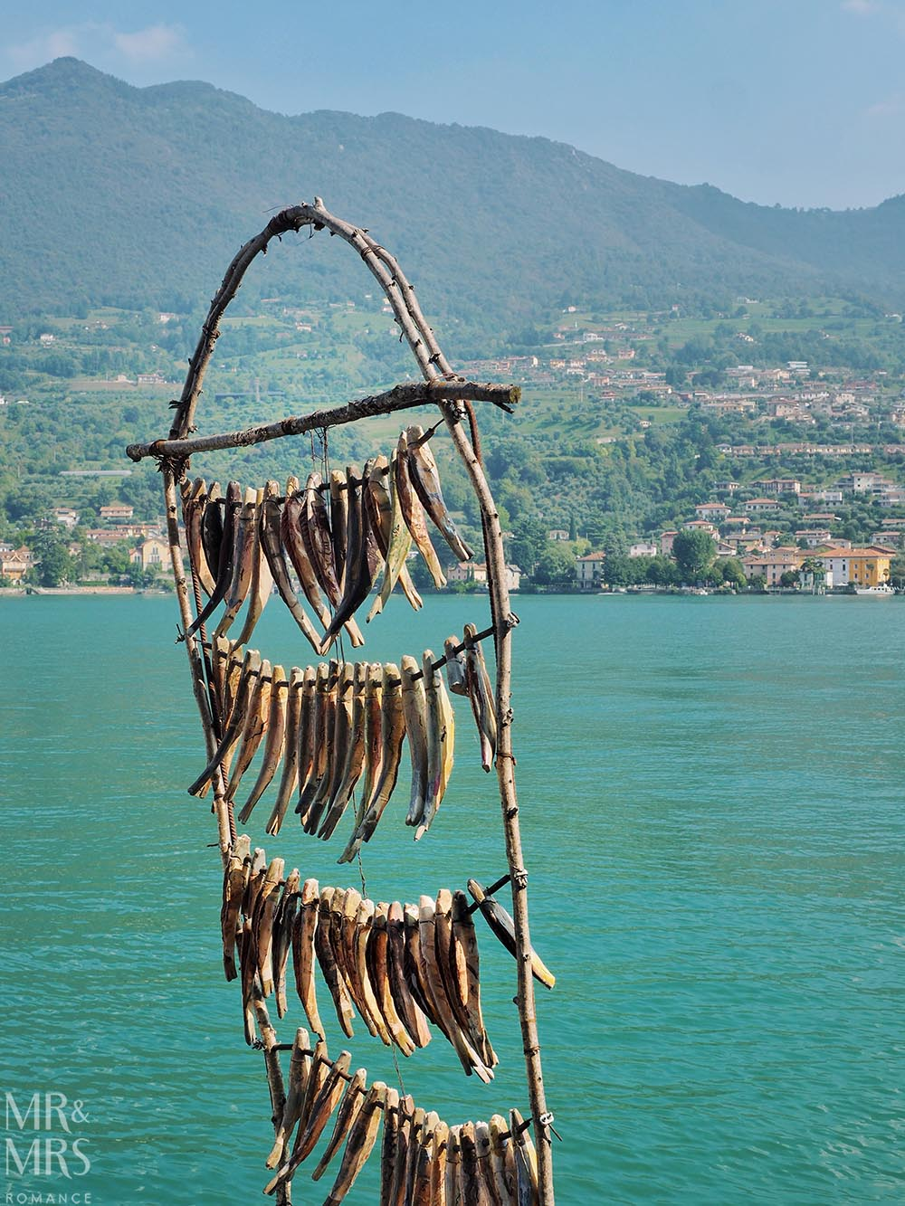 Monte Isola, Lake Iseo, Italy - drying fish
